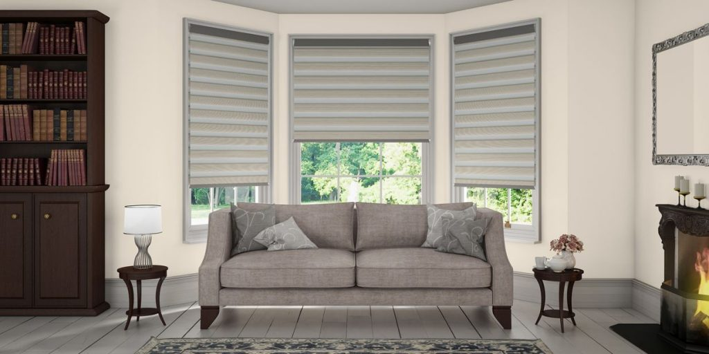 Bay window curtains for living room - Vision Blinds Fitted Vision Window Blinds Glasgow
