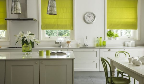 Milano-Lime Roman-window-blinds