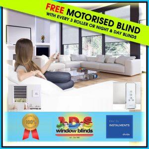 Free Motorised Blinds Offer