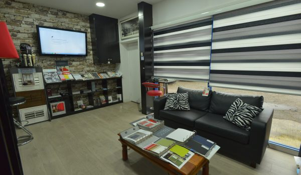 window blinds showroom seating