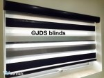 vision day night window blinds fitting black finish